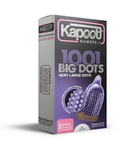 کاندوم کاپوت 1001 خار مدل BIG DOTS بسته 10 عددی
