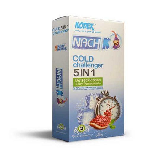 کاندوم تاخیری کدکس مدل Cold Challenger 5in1 بسته 12 عددی