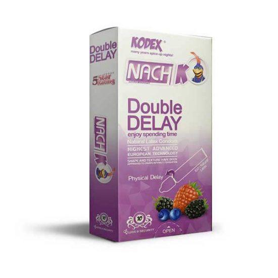 کاندوم تاخیری دوبل ناچ کدکس مدل Double Delay بسته 10 عددی