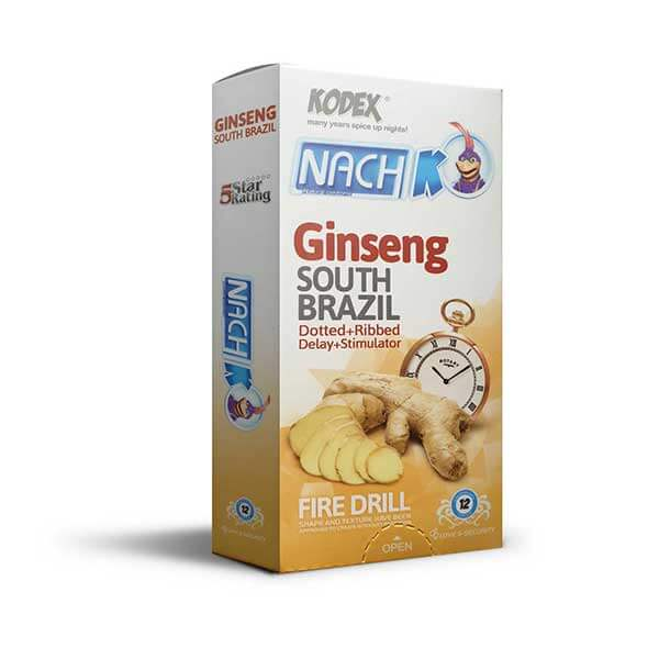 کاندوم تاخیری جینسینگ کدکس مدل Ginseng بسته 12 عددی