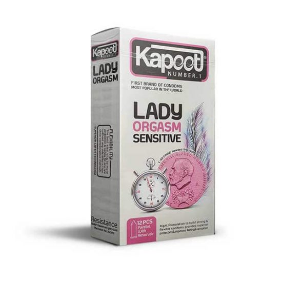 کاندوم تاخیری کاپوت مدل Lady Orgasm بسته 12 عددی