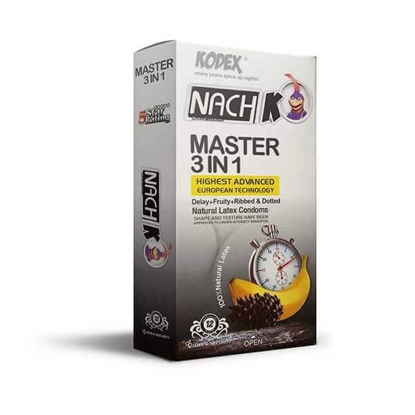 کاندوم تاخیری کدکس مدل Master 3 In 1 بسته 12 عددی