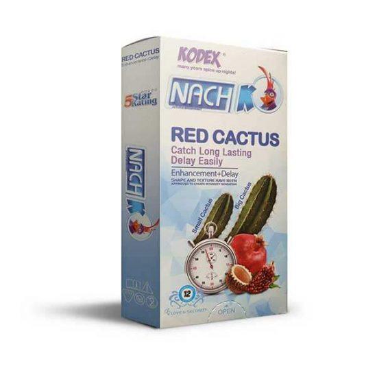 کاندوم تاخیری و بزرگ کننده کدکس مدل Red Cactus بسته 12 عددی