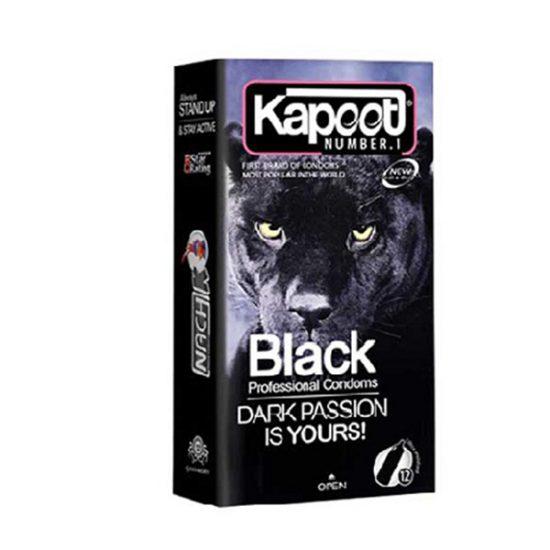 کاندوم کاپوت مشکی مدل Black بسته 12 عددی