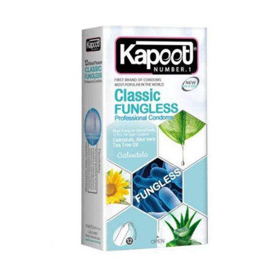 کاندوم ضد باکتری کاپوت مدل Classic Fungless بسته 12 عددی